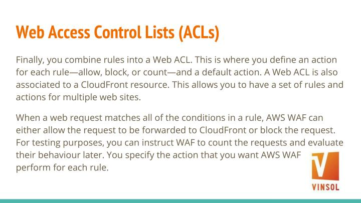 Web Access Control Lists (ACLs)