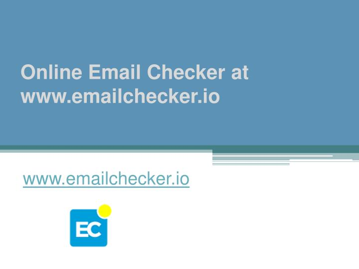 Online email checker at www emailchecker io