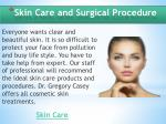 skin care and surgical p rocedure