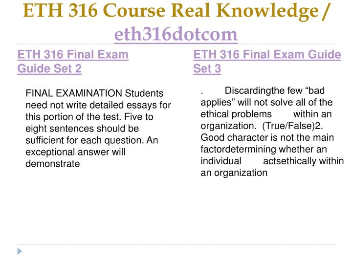 Eth 316 course real knowledge eth316dotcom2