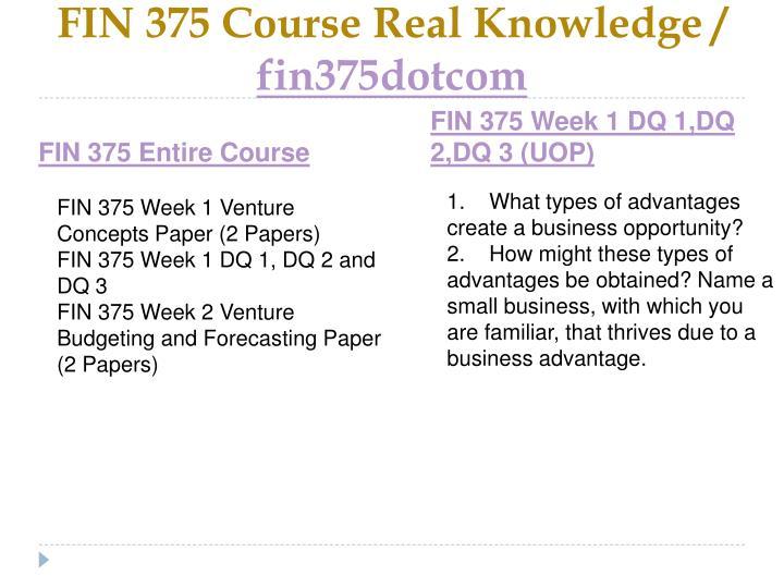 Fin 375 course real knowledge fin375dotcom1