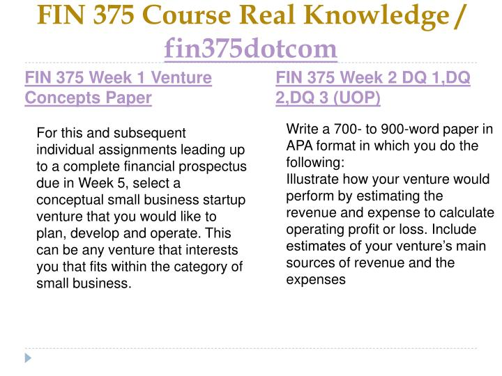 Fin 375 course real knowledge fin375dotcom2