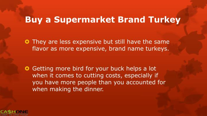Buy a Supermarket Brand Turkey