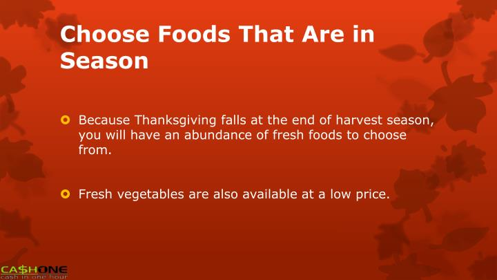 Choose Foods That Are in Season