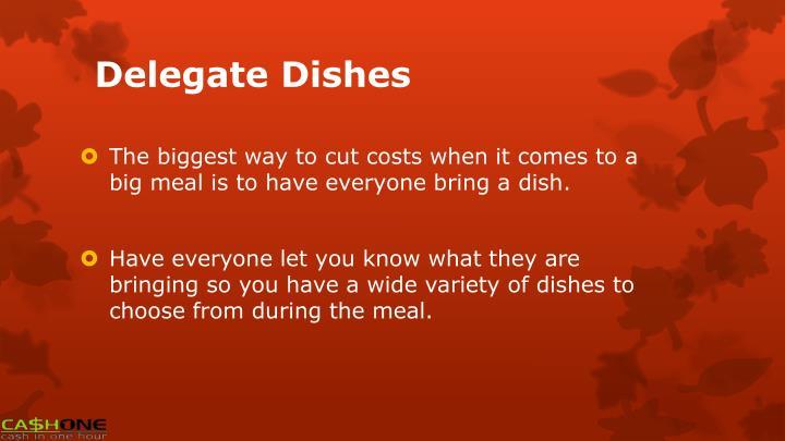 Delegate Dishes