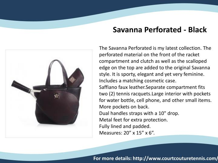 Savanna Perforated - Black