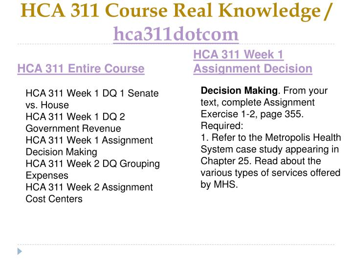 Hca 311 course real knowledge hca311dotcom1