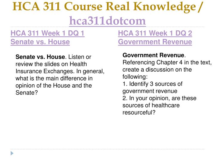 Hca 311 course real knowledge hca311dotcom2