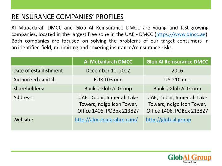 REINSURANCE COMPANIES' PROFILES