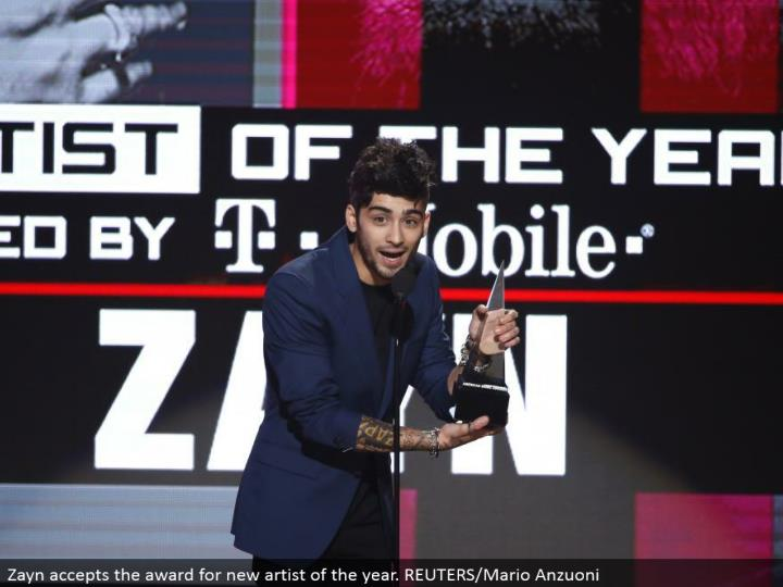 Zayn perceives the regard for new gifted specialist of the year. REUTERS/Mario Anzuoni