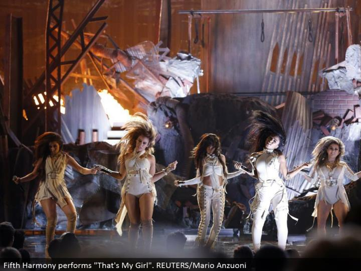 "Fifth Harmony plays out ""That is My Girl"". REUTERS/Mario Anzuoni"