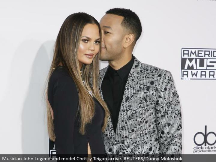 Musician John Legend and model Chrissy Teigan arrive. REUTERS/Danny Moloshok