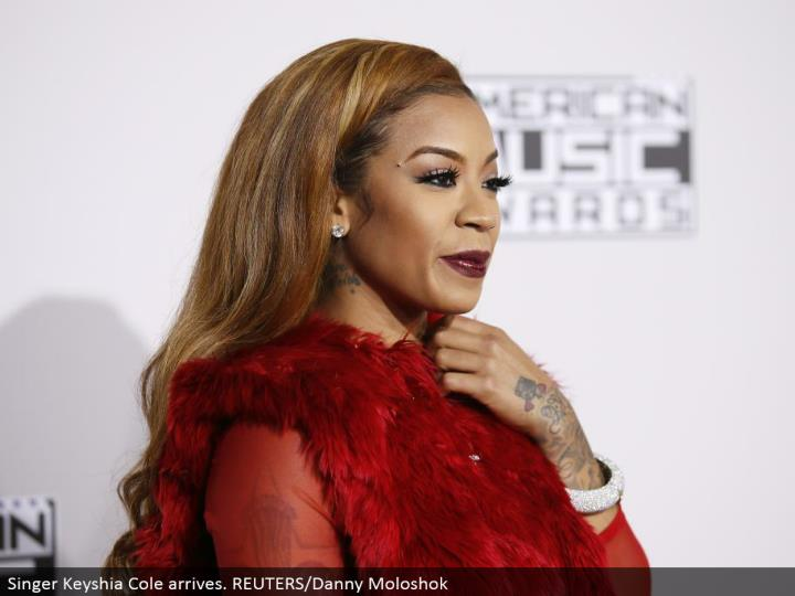 Singer Keyshia Cole arrives. REUTERS/Danny Moloshok