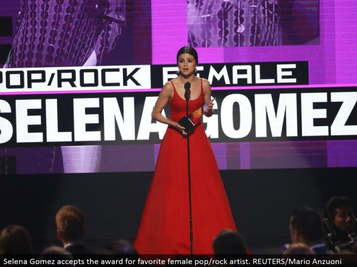 Selena Gomez perceives the regard for most venerated female pop/shake master. REUTERS/Mario Anzuoni
