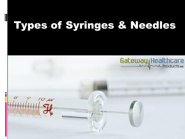 Types of Syringes & Needles
