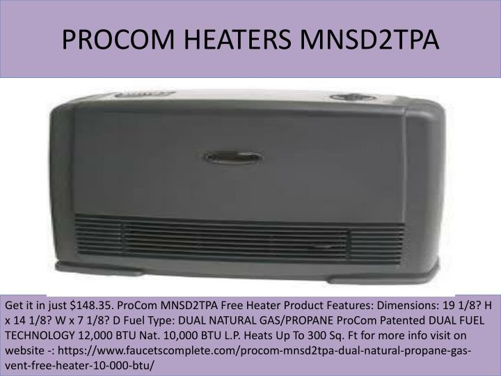 Procom heaters mnsd2tpa