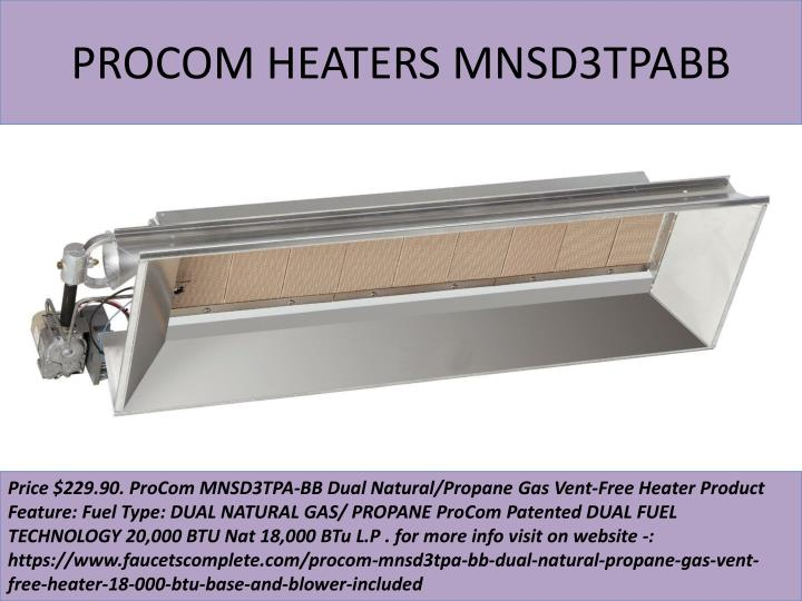 Procom heaters mnsd3tpabb