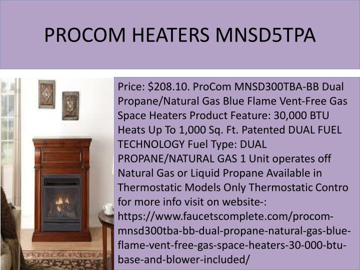 PROCOM HEATERS MNSD5TPA