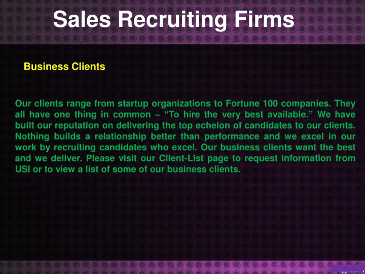 Sales Recruiting