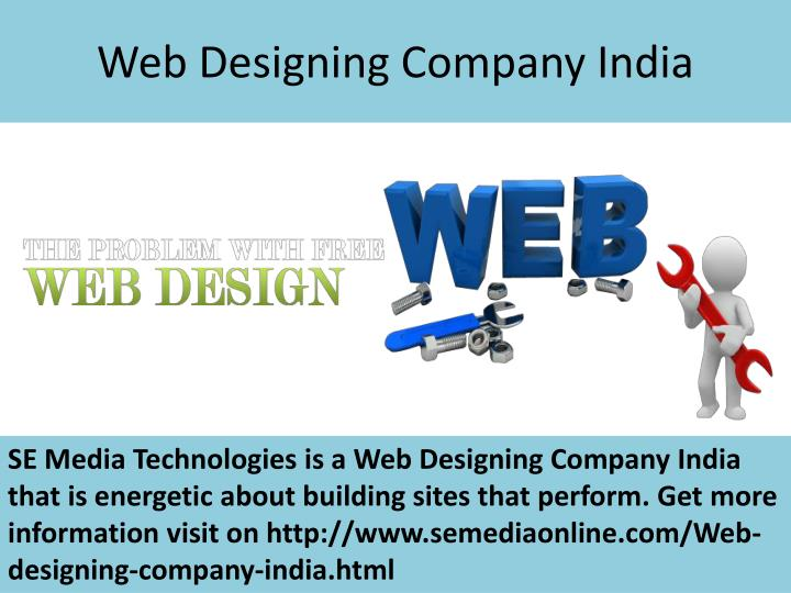 Web designing company india