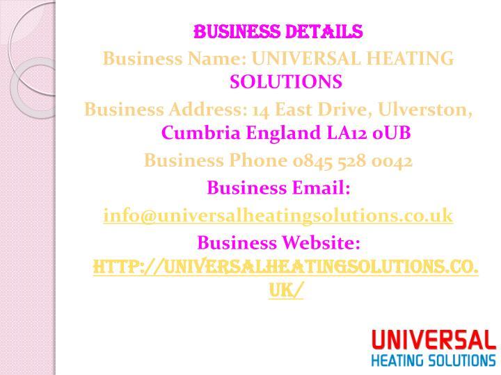 Business Details