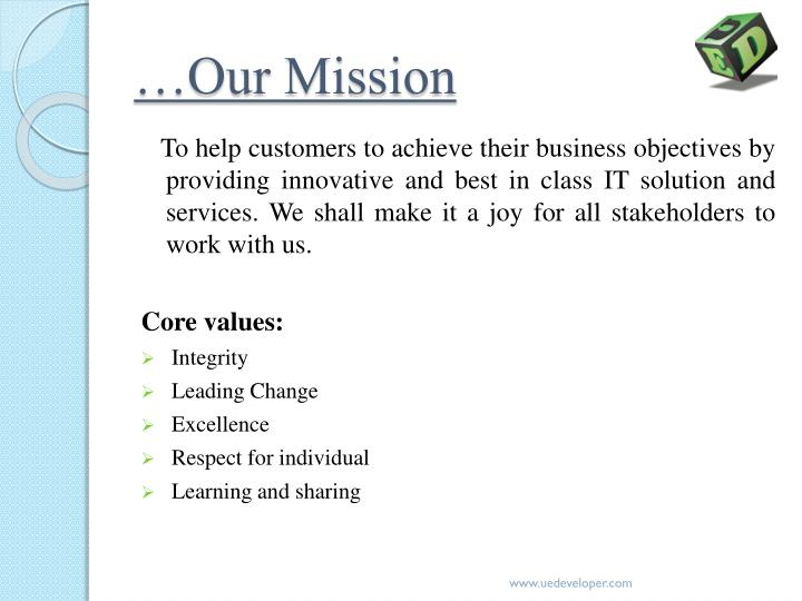 …Our Mission