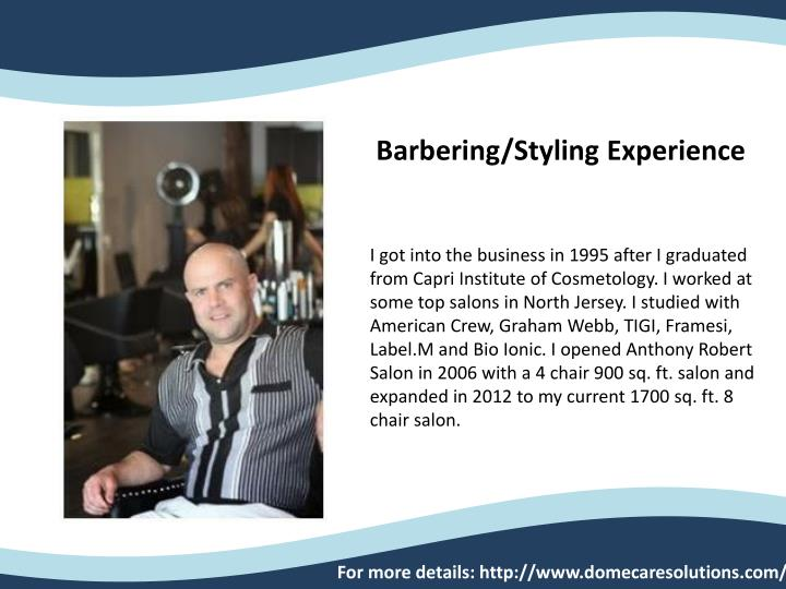 Barbering/Styling Experience