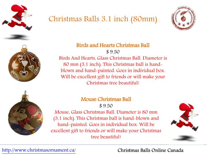 Christmas Balls 3.1 inch (80mm)