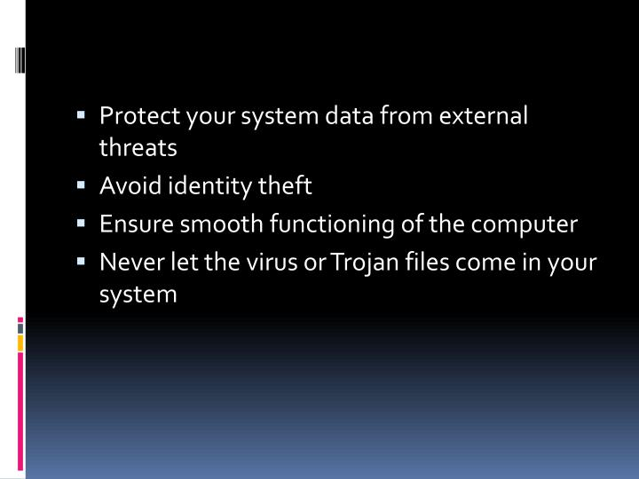 Protect your system data from external threats