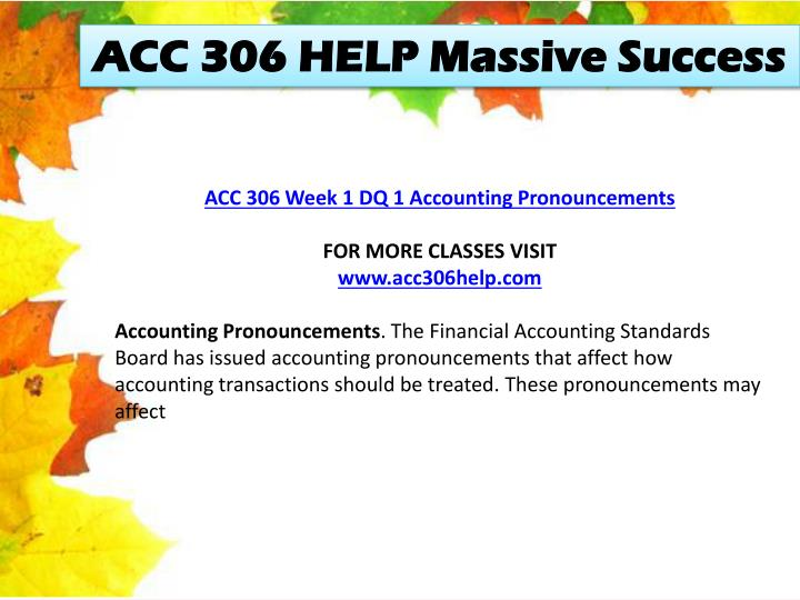 ACC 306 HELP Massive Success