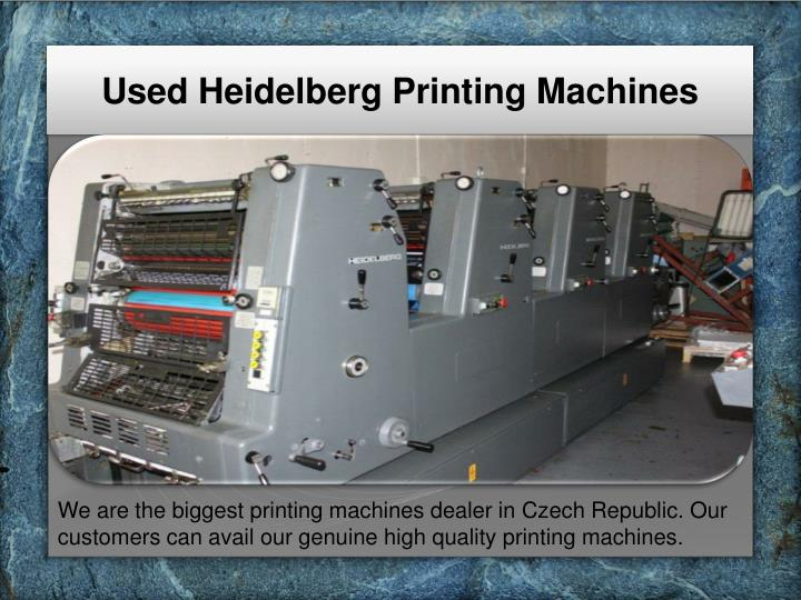 Used Heidelberg Printing Machines