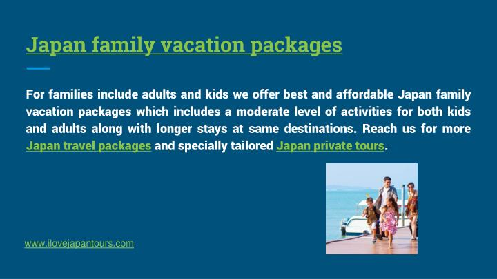 Japan family vacation packages