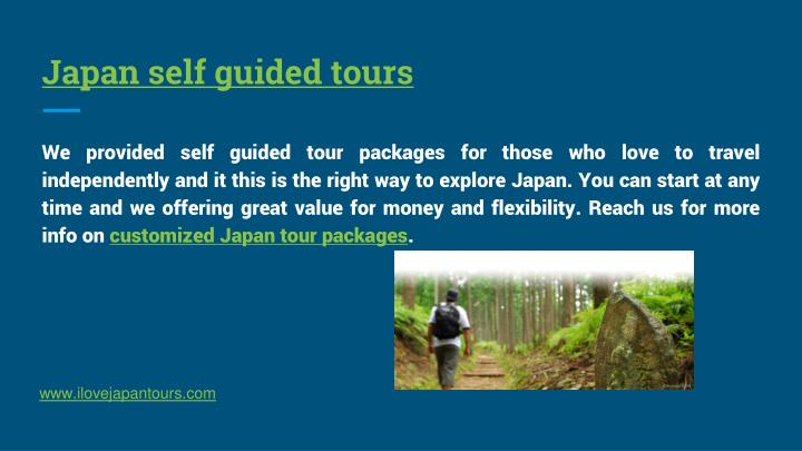 Japan self guided tours