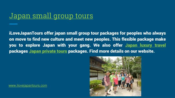 Japan small group tours