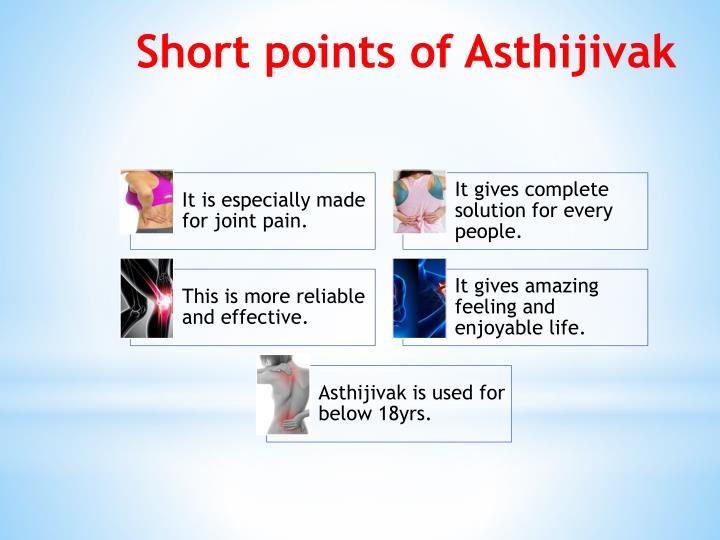 Short points of Asthijivak