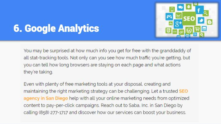 6. Google Analytics