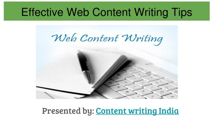 Effective web content writing tips