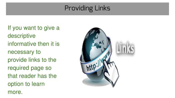Providing Links