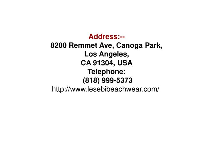 Address:--