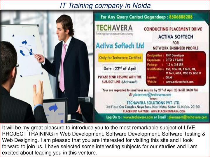 IT Training company in Noida