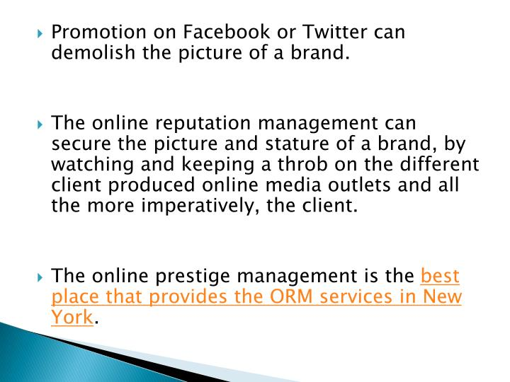 Promotion on