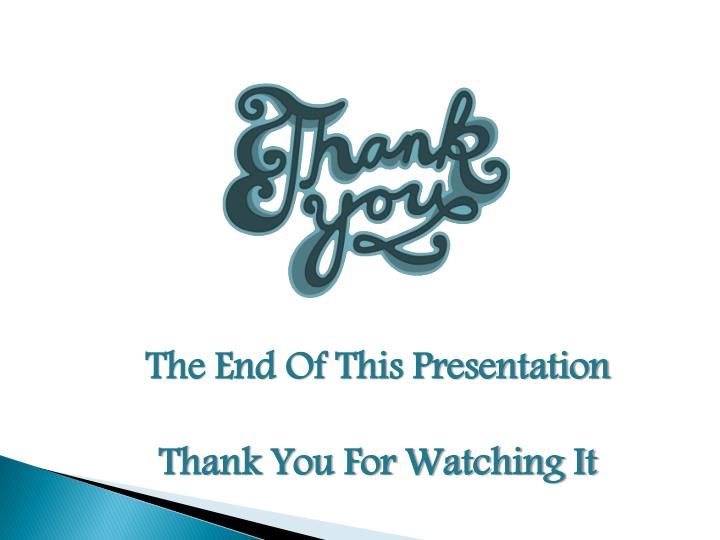 The End Of This Presentation