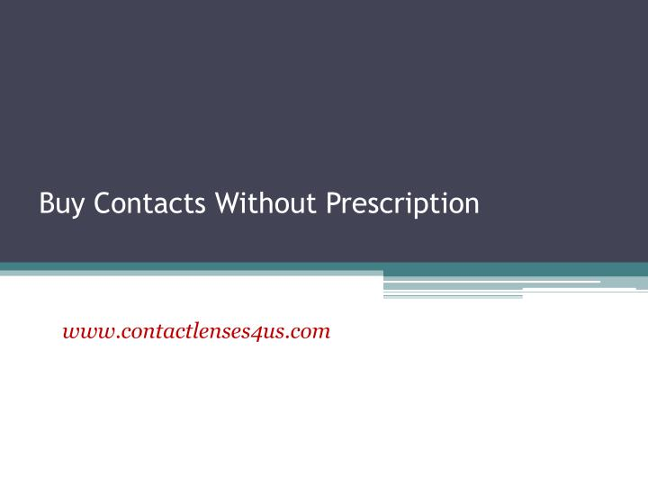 Buy contacts without prescription
