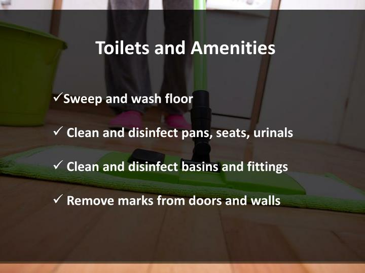 Toilets and Amenities
