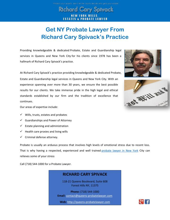 Get NY Probate Lawyer From
