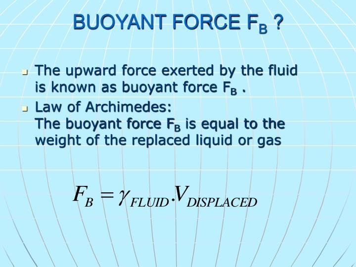 BUOYANT FORCE F