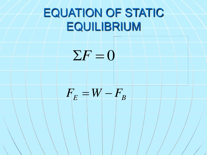 EQUATION OF STATIC EQUILIBRIUM