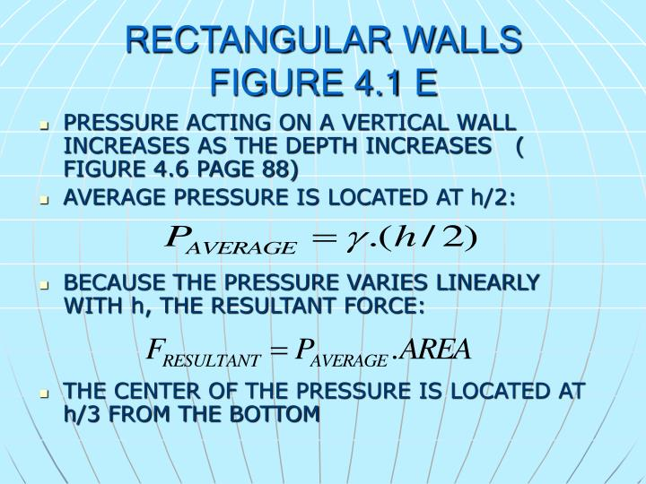 RECTANGULAR WALLS