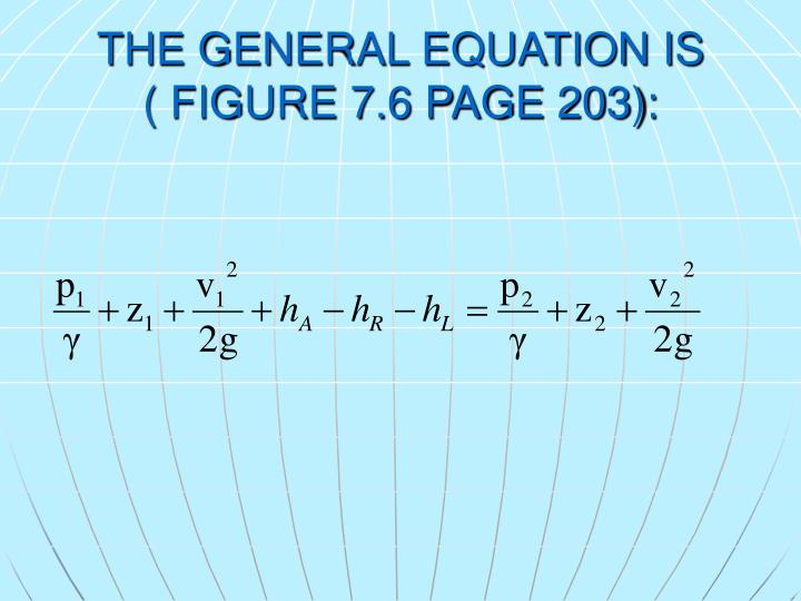 THE GENERAL EQUATION IS