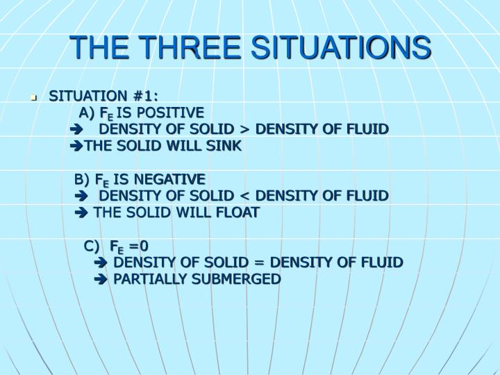 THE THREE SITUATIONS